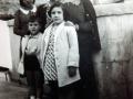 Ana María y D. José En la terraza de la casa familiar
