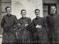 Seminario de Salamanca (1948-1953) D. José con D.Enrique Barbero, D. José María Marín y D. Juan Carlos Gómez Menor
